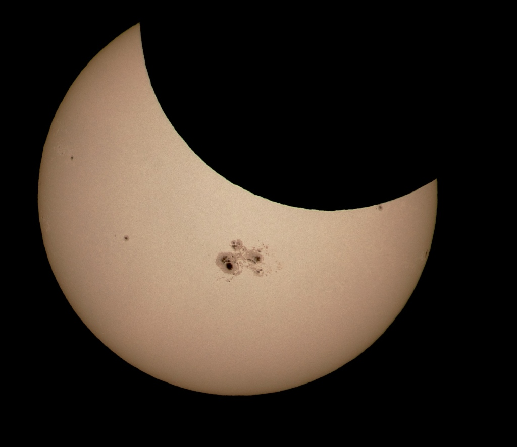 Eclipse and sunspots