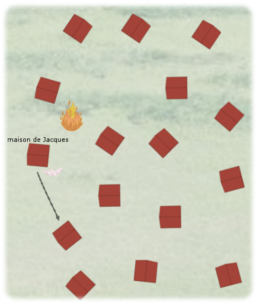 enigme feu dans la foret 16 voisins pigeon voyageur