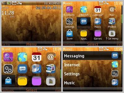 Brown dark theme Asha 302 Asha 200 Asha 201 C3-00 X2-01
