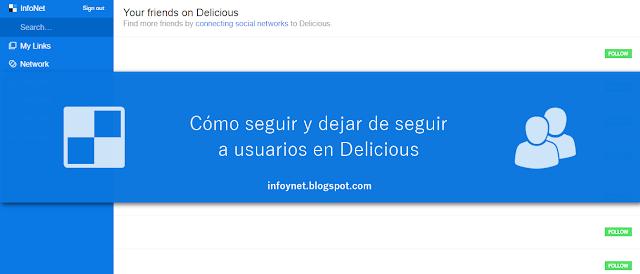 Cómo seguir y dejar de seguir a usuarios en Delicious