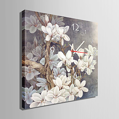 Reloj Lienzo de Flores