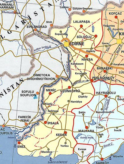 Edirne Siyasi Haritas�