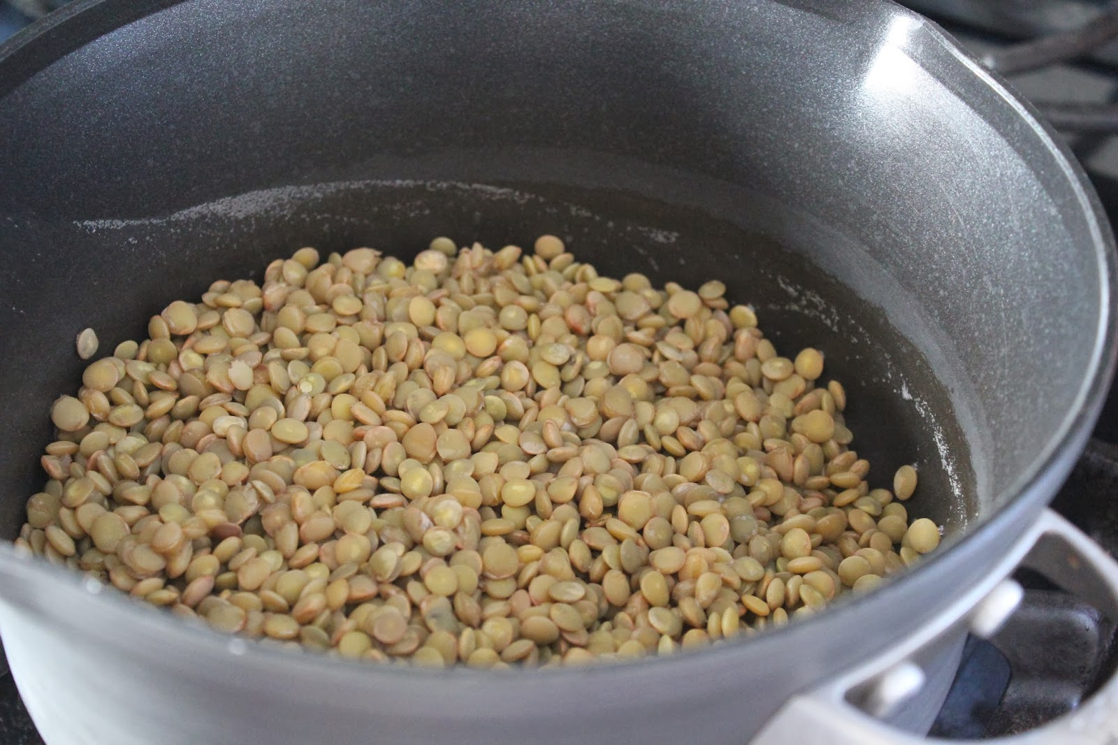 Lentils for hearty minestrone soup