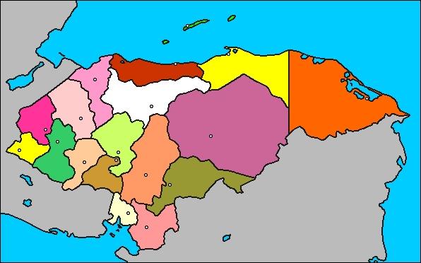 el mapa de honduras