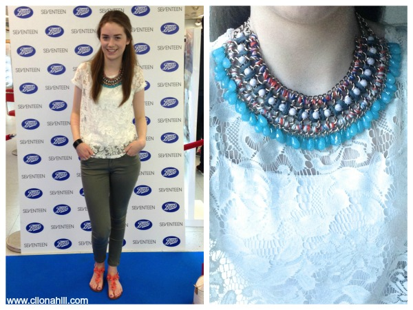 Zara statement necklace outfit
