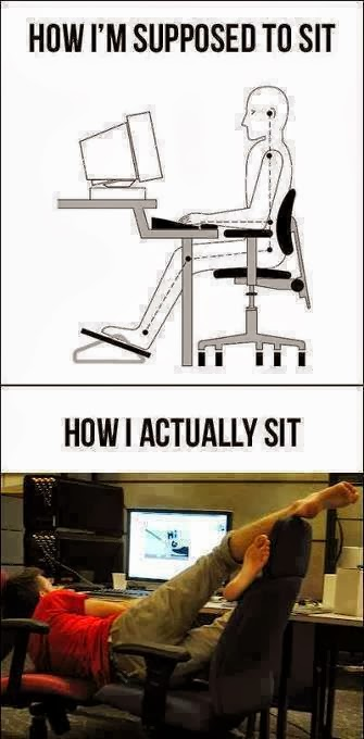 How i actually sit
