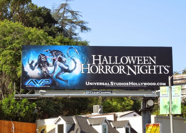 Halloween Horror Nights Alien vs Predator billboard