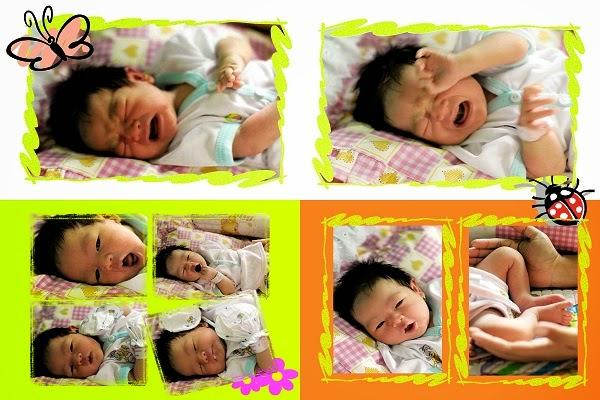 Premier album photo bébé adorable