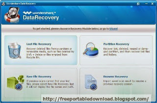 Wondershare Data Recovery 4.6.1.3 Windows data recovery software can recover deleted files