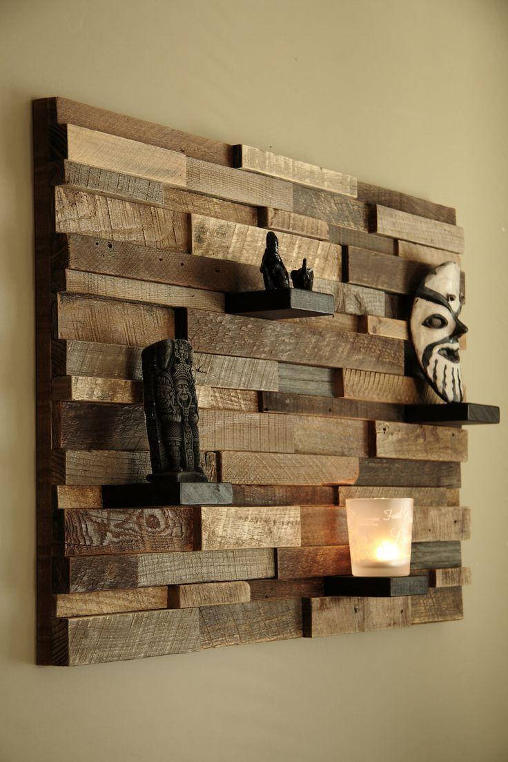 Декоративная стена из дерева