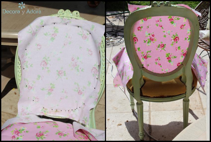 diy tapizar silla vintage