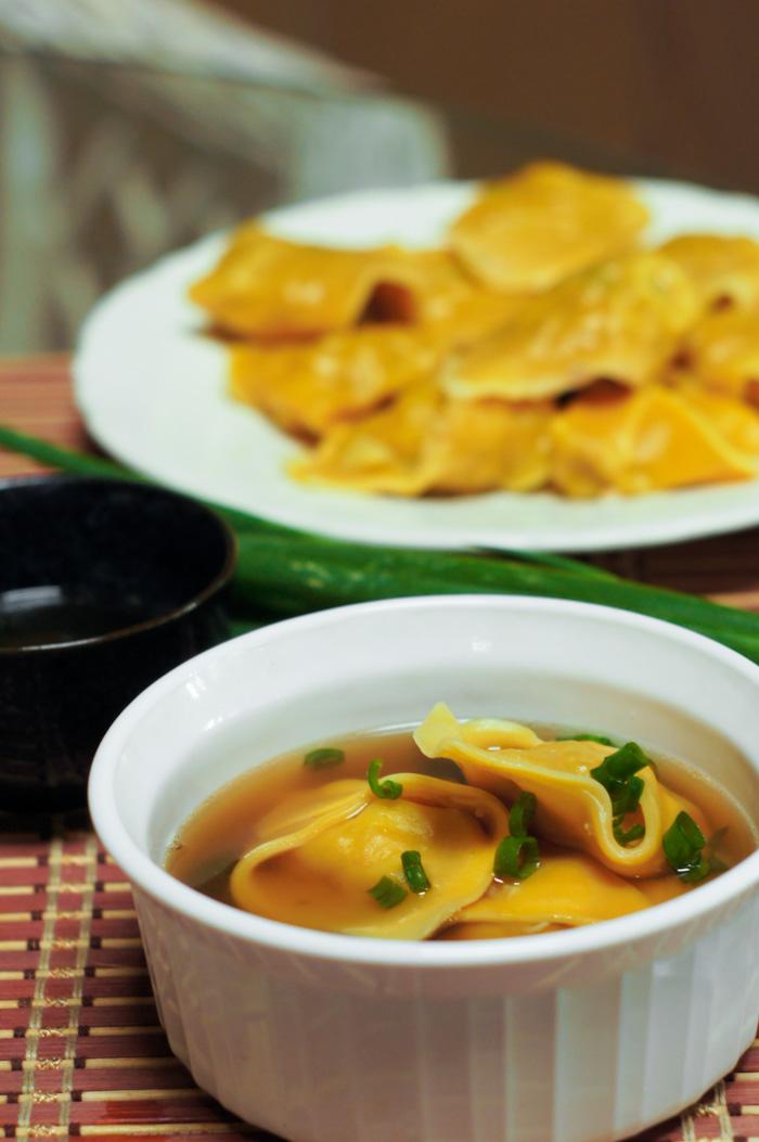 Wonton Soup Recipe | thumb in plum