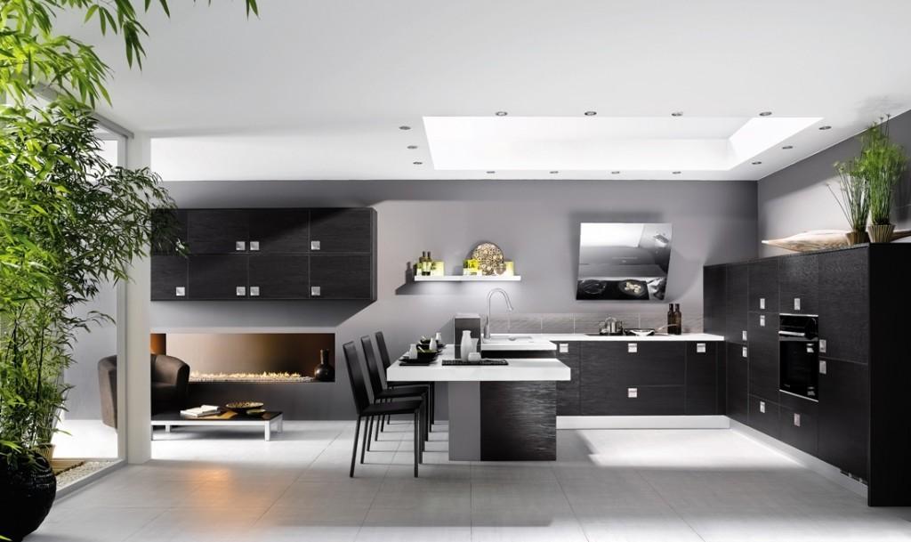 Cocinas en color gris great ya hemos visto algunas ideas for Cocinas italianas equipadas