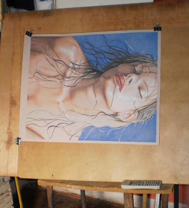 Dibujo con Lápiz de Color (Moisture)