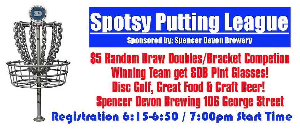 Spotsy Disc Golf Putting Leagues!