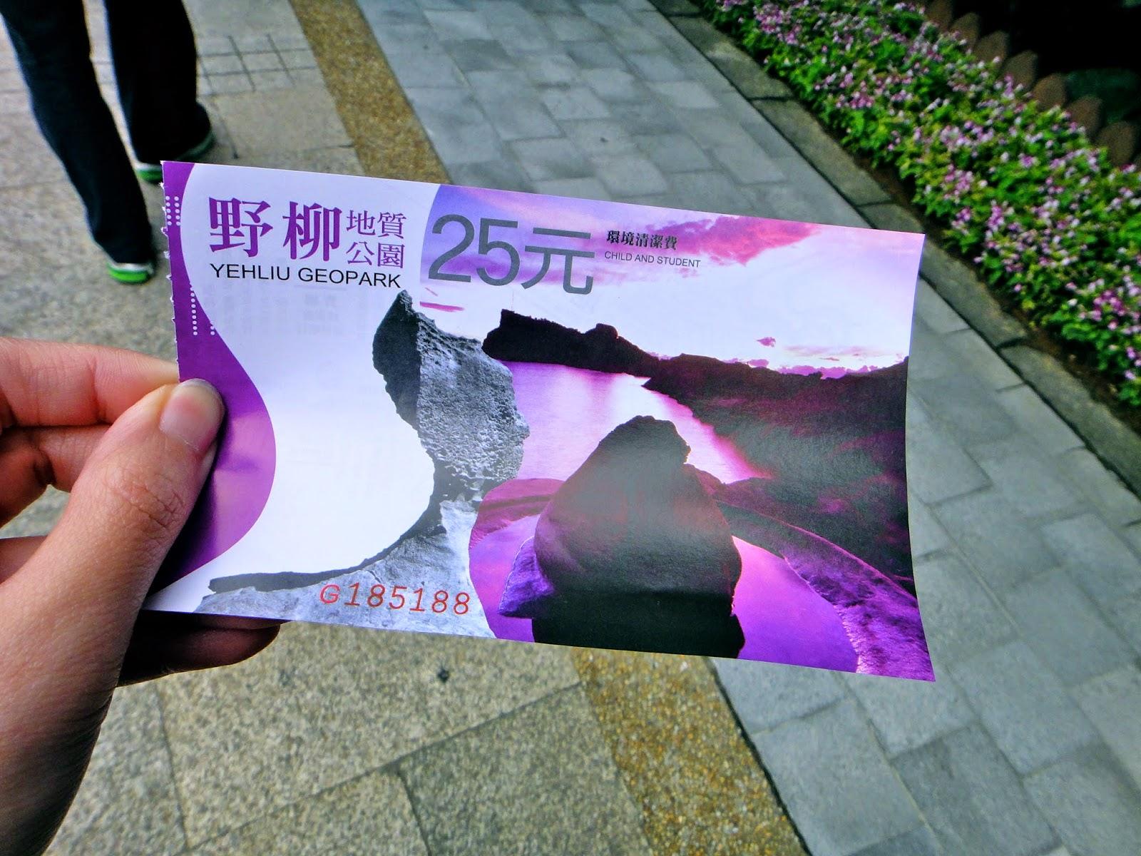 Yehliu Geopark TIcket Taiwan