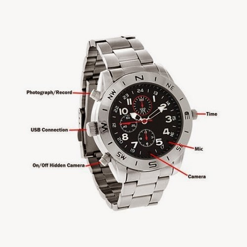 spy watch 4gb 8gb kamera pengintai bentuk jam tangan sporty