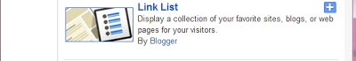 Link List Gadget in Blogger