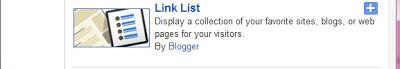 Link List Gadget in Blogger