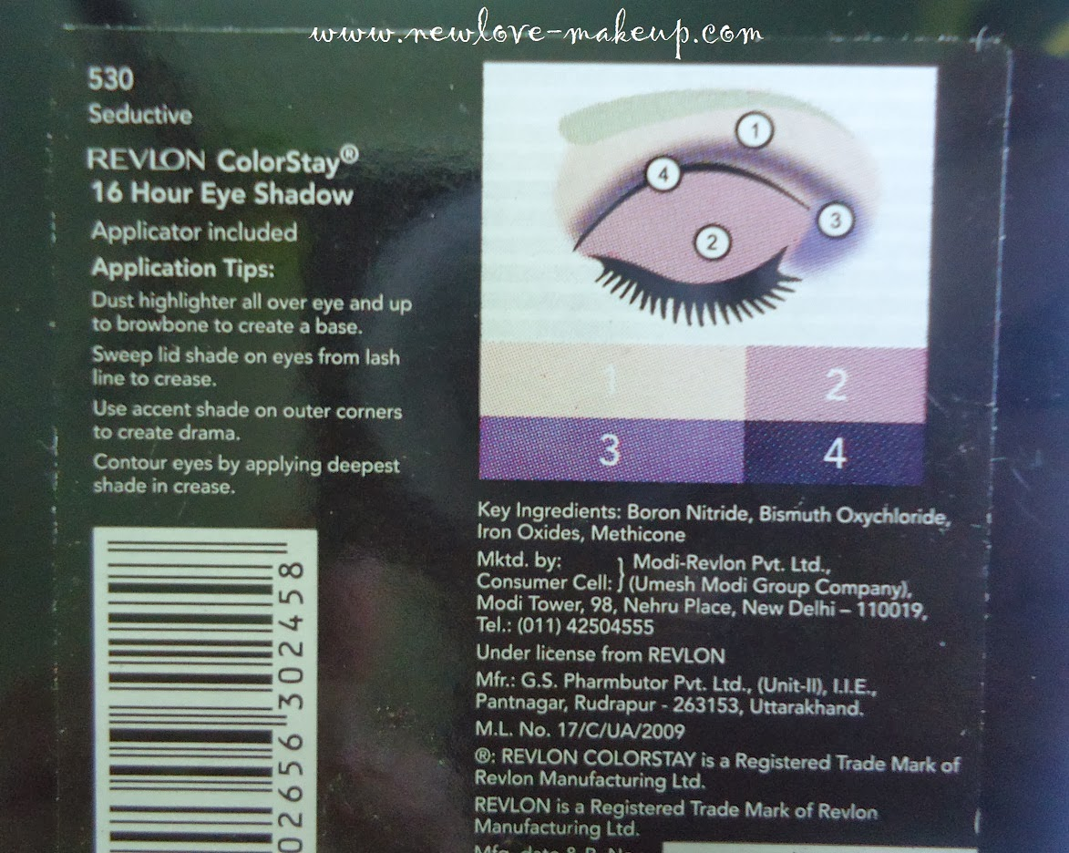 Revlon ColorStay 16 Hour Eyeshadow Quad 530 Seductive Review, Swatches