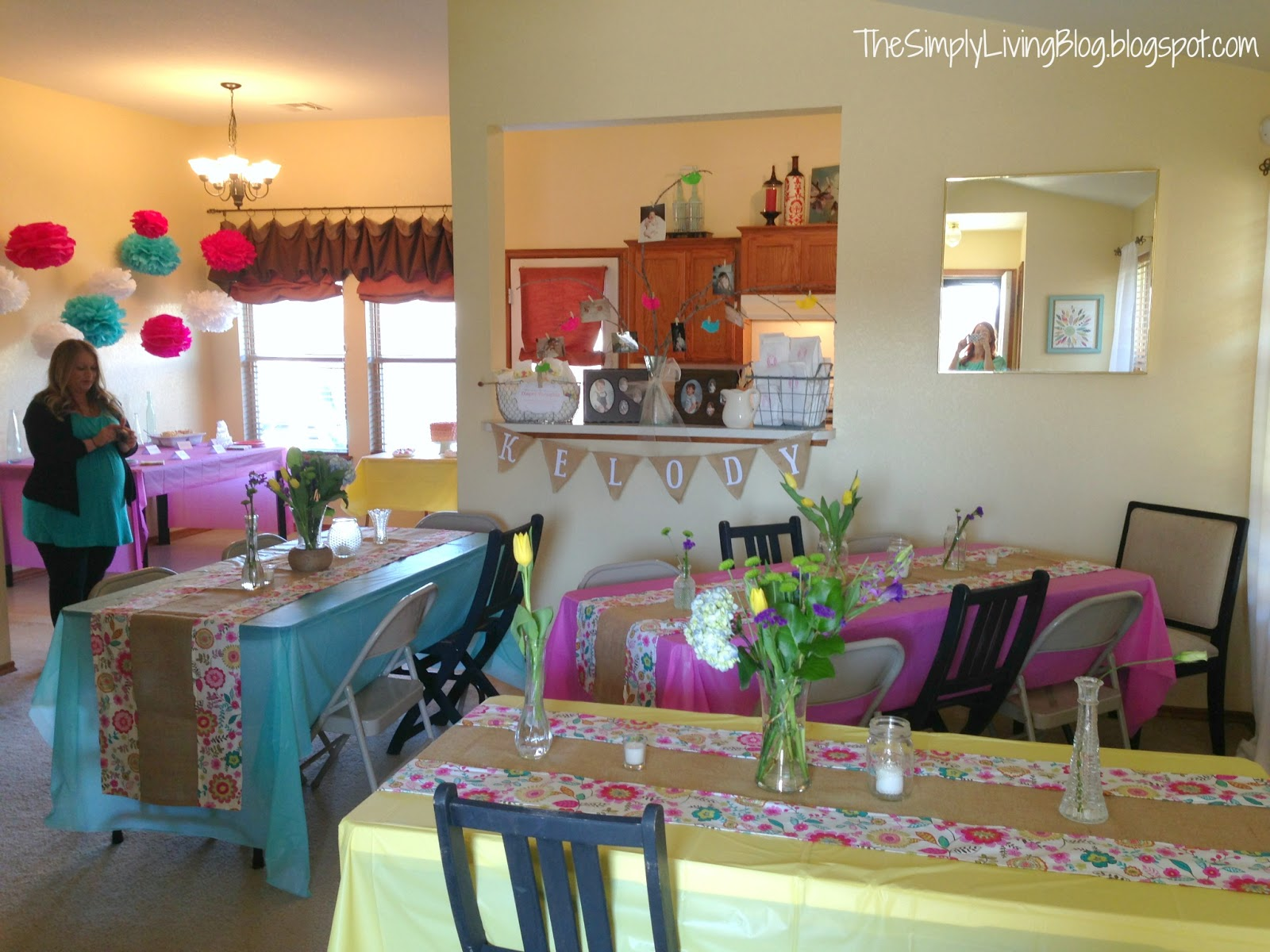 Elegant Pink And Teal Baby Shower