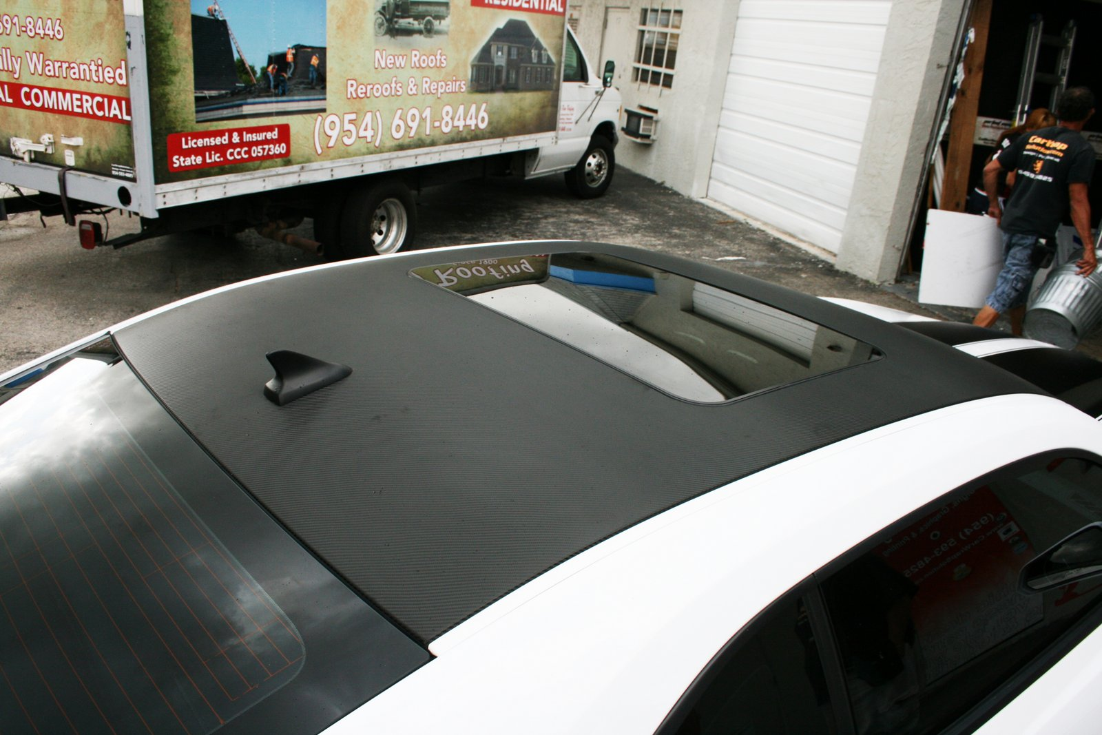 Fort Lauderdale Chevy Camaro Carbon Fiber Wrapped Vinyl Roof Wrap U0026 Carbon  Fiber Mirror Wrap
