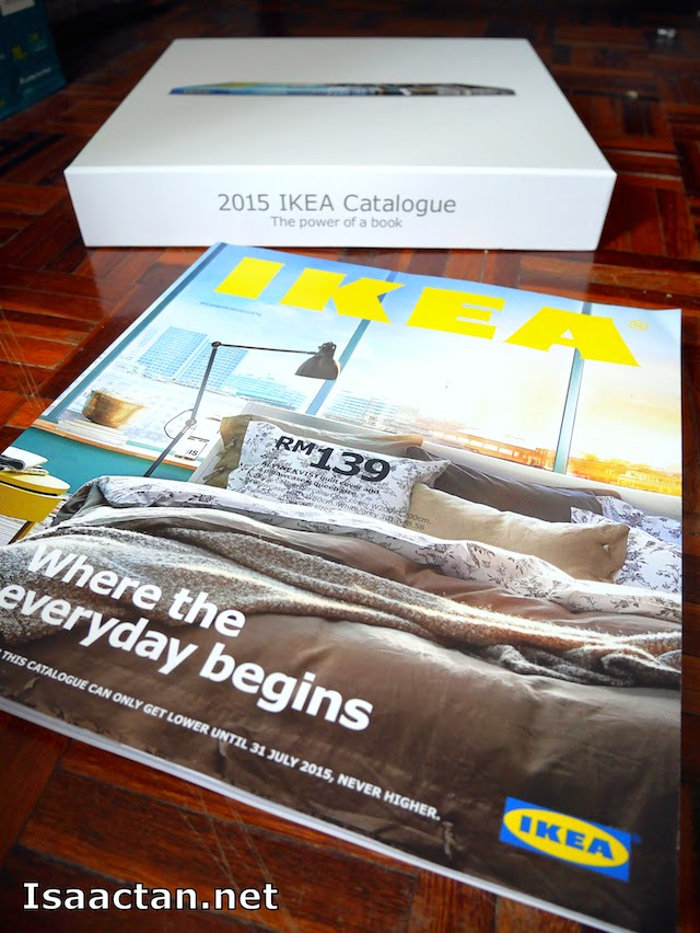 Contained inside the box, is the 328 hi definition colourful 2015 IKEA Catalogue