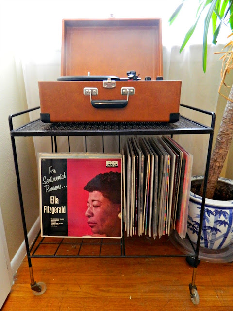 mid-century record cart Just Peachy, Darling