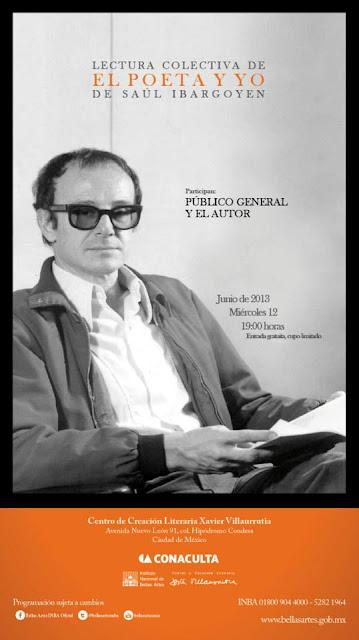 """Lectura colectiva de """"El poeta y yo"""" de Saúl Ibargoyen en el CCLXV"""