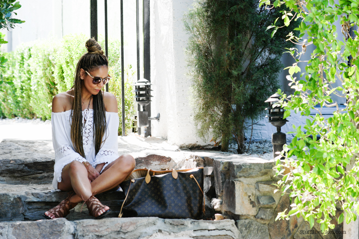 off shoulder dress, dolce vita sandals, blogger, top blogger, best blogger, fashion blogger, top fashion blogger, braids, braided hair