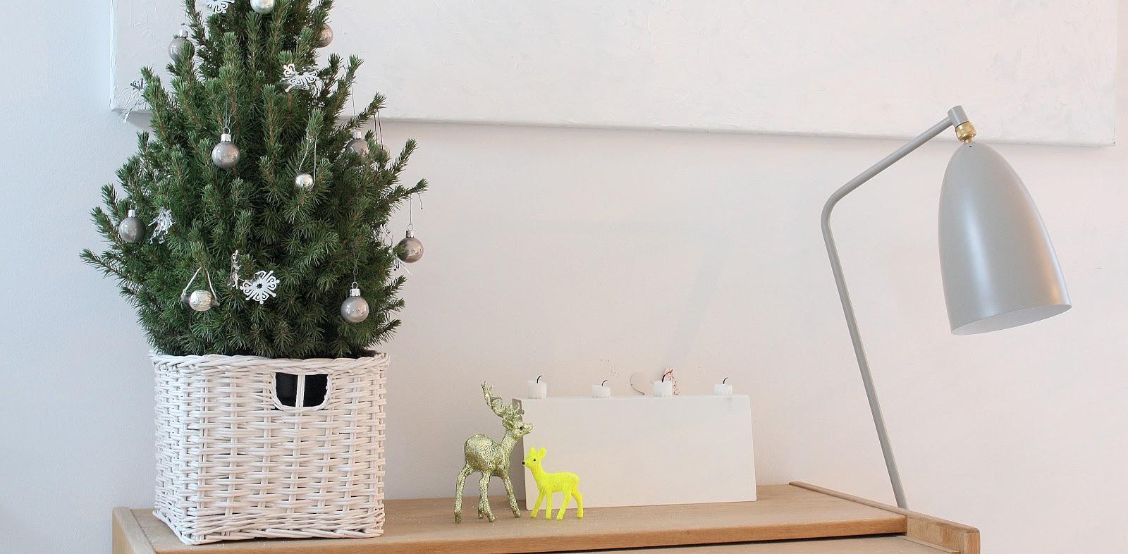 juletræer med pynt til juleaften