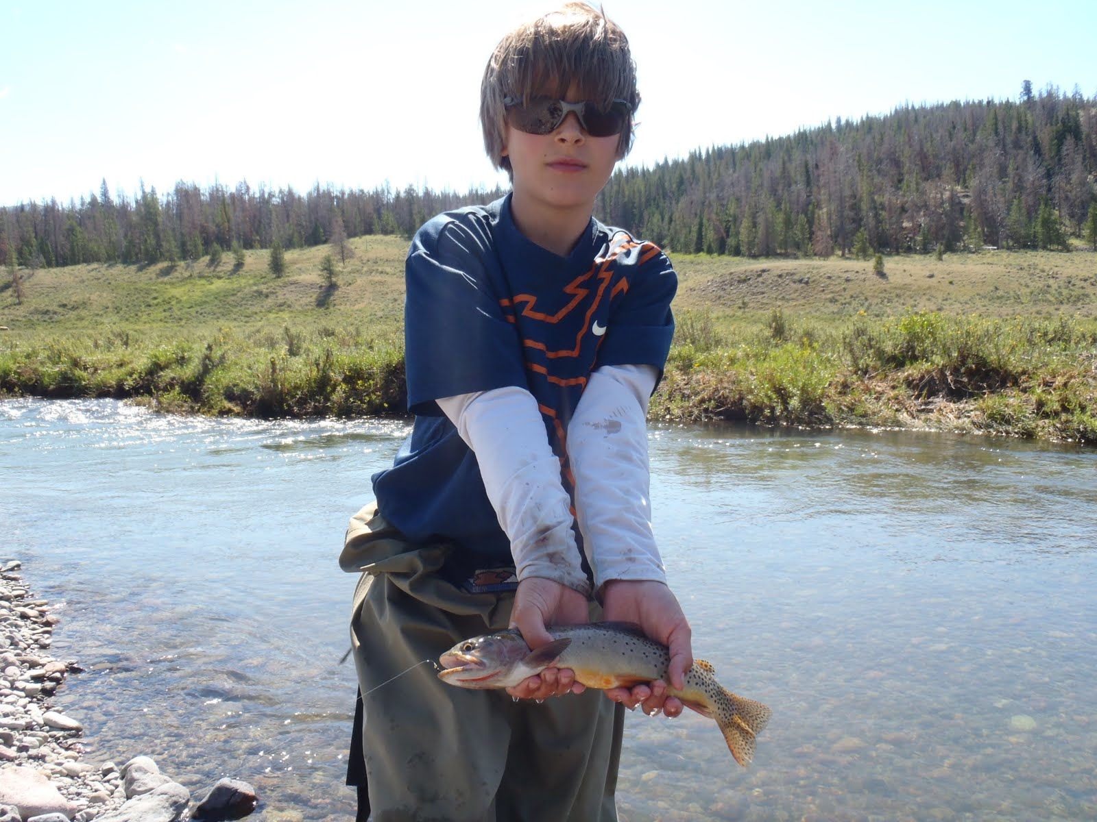 wind river fly fishing report dubois wyoming august 2011