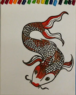 koi drawing, sarah hipple