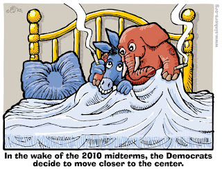 Democrats and Republicans are in bed together