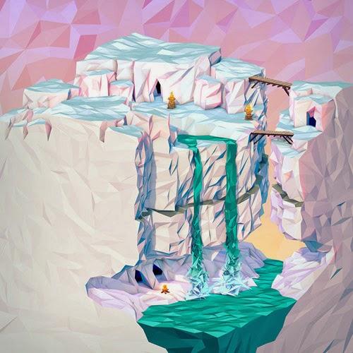 3D Geometric Landscape Illustrations Gallery