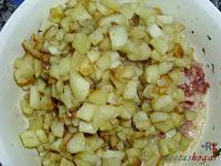 Tortilla española con queso y baicon-huevo con papas