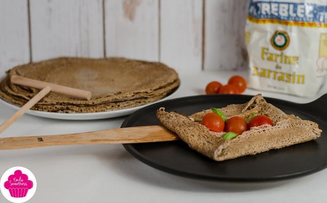 Galettes de sarrasin - preparation de la pâte et deux idées recettes