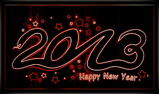 Black Happy New Year 2013 wallpapers