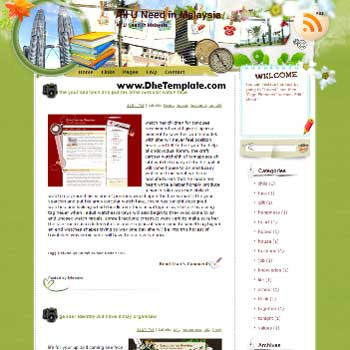 All U Need in Malaysia template blog from wordpress. travel blog template. template blogger travel for blog