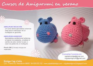Cursos de amigurumi en verano Poblenou - Barcelona