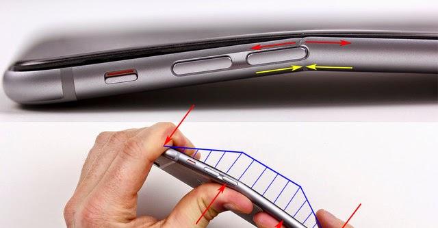 """iPhone 6 Plus có """"điểm chết"""" dễ dàng bị bẻ cong"""
