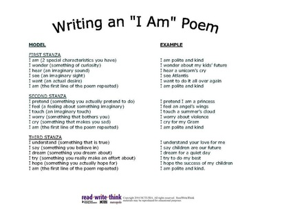 I am poem template miss durants science class i am poem template pronofoot35fo Image collections