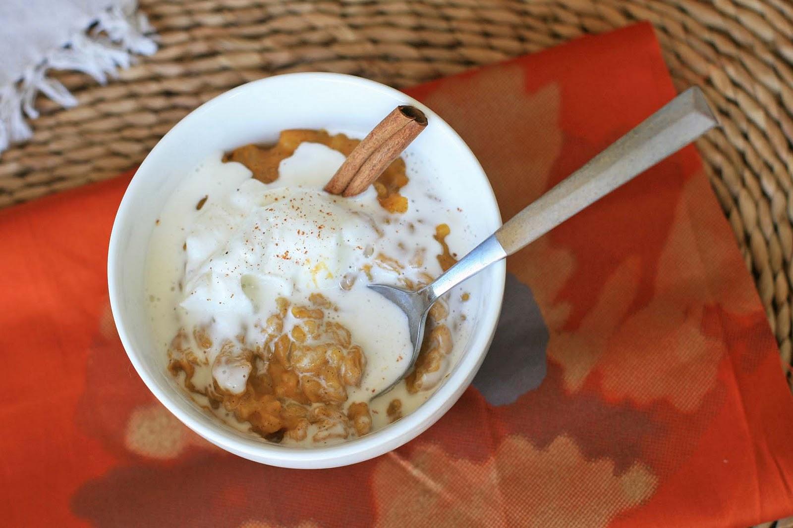 Pumpkin Spice Arborio Rice Pudding | Girl Cooks World