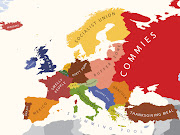 Map of Europe According to Americans . Jenny's Noodle