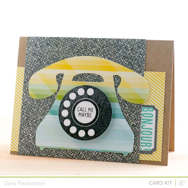 Vintage Phone Card using the Studio Calico Front Row Kit by pixnglue