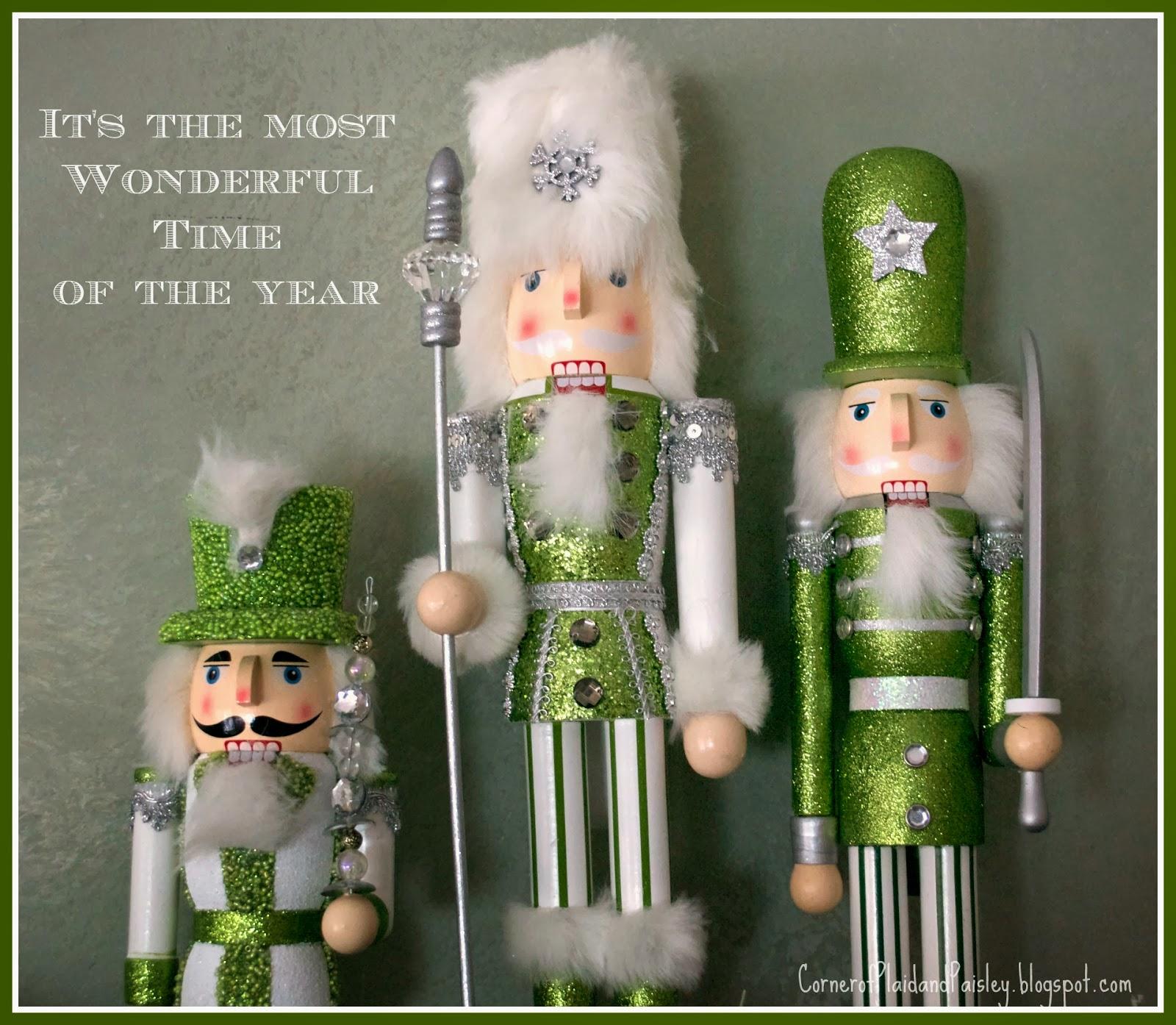 Nutcracker Theme: Corner Of Plaid And Paisley: Christmas Mantel