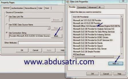 cara koneksi database acces 2007 di visual basic