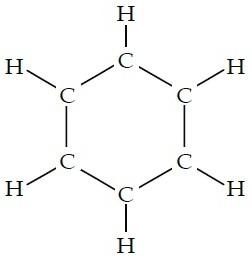 struktur benzena cincin heksagonal