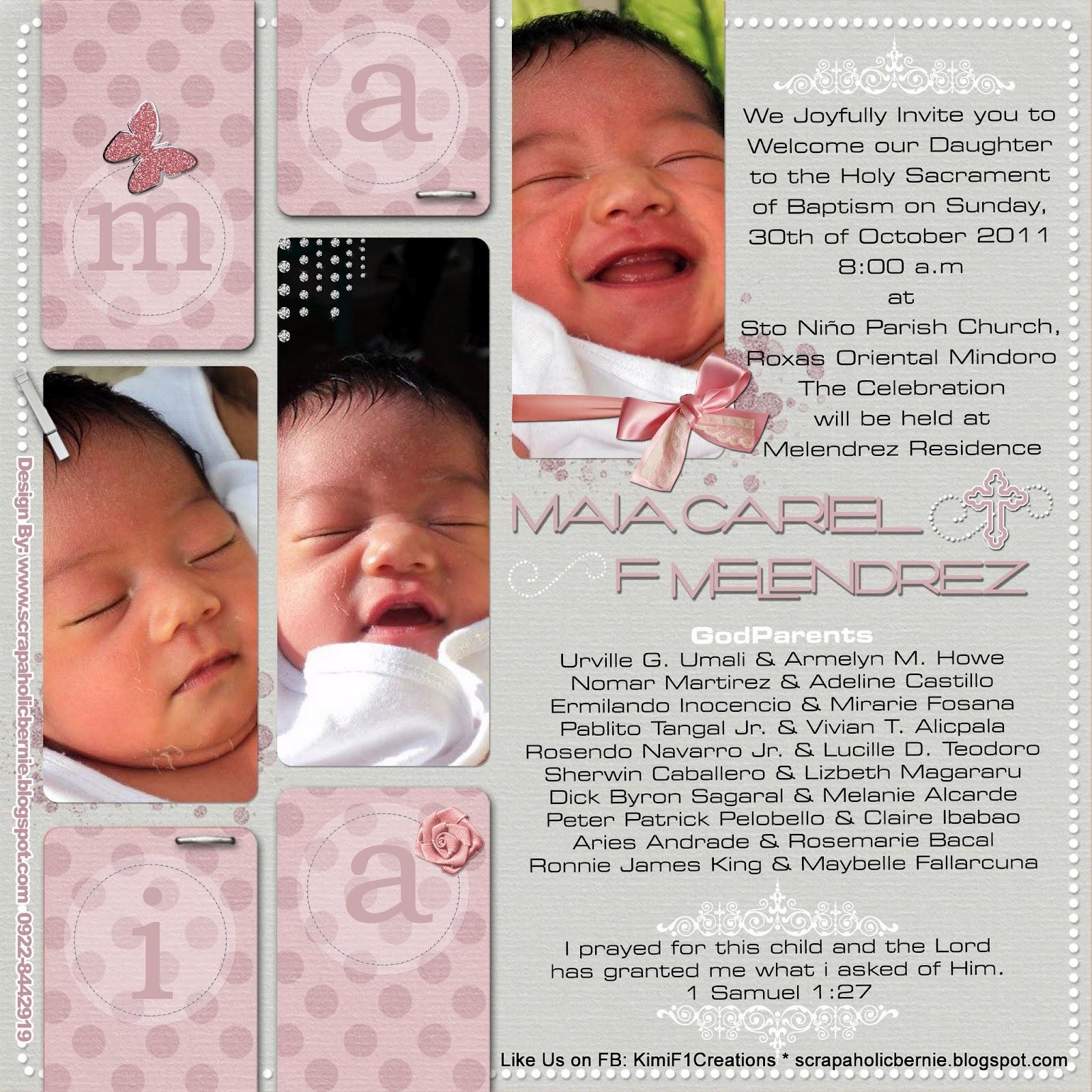 F1 Digital Scrapaholic Baptismal Invitation Printout For Sp Mom