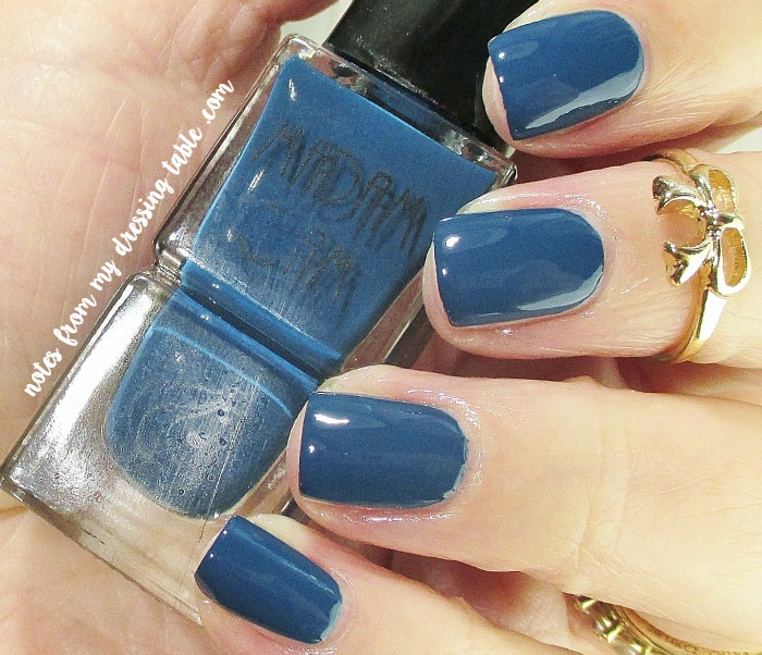 Madam Glam Nail Polish Dusty Navy notesfrommydressingtable.com